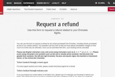 how to cancel and get a refund from emirate airlines